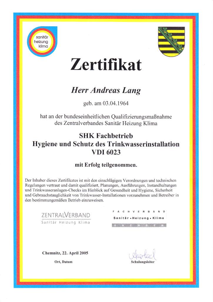 Lang & Langer GbR - Innungsbetrieb der Innung Sanitär Heizung Klima ...
